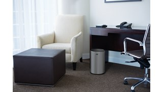 The Metallic Series 5 Gallon FGUB1900 Indoor Wastebasket is made of heavy-gauge, fire-safe steel. The sleek and functional design of this receptacle blends nicely with upscale interiors.