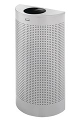 Half Round Open Top 12 Gal Perforated Stardust Silver Metallic