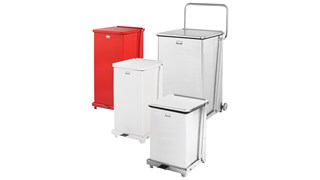 Engineered to close without a sound, the Silent Defenders® 12 Gallon FGQST12E Square Indoor Step-On Container is perfect for hospitals, doctor's offices and other healthcare facilities.