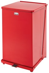 Defenders® Square Step Can 25 Gal Red