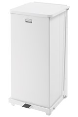 Defenders® Square Step Can 13 Gal Sky White