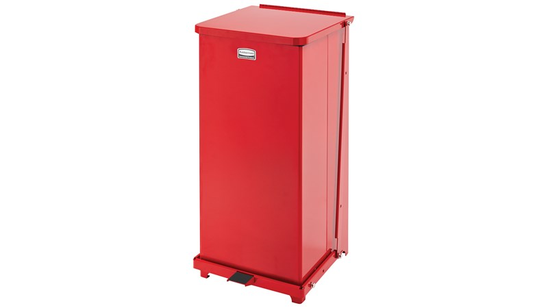 Engineered to close without a sound, the Silent Defenders® 13 Gallon FGQST24E Square Indoor Step-On Container is perfect for hospitals, doctor's offices and other healthcare facilities.