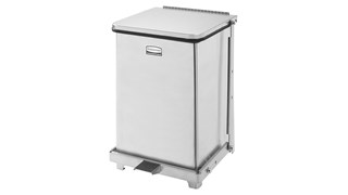 Engineered to close without a sound, the Silent Defenders® 4 Gallon FGQST7E Square Indoor Step-On Container is perfect for hospitals, doctor's offices and other healthcare facilities.