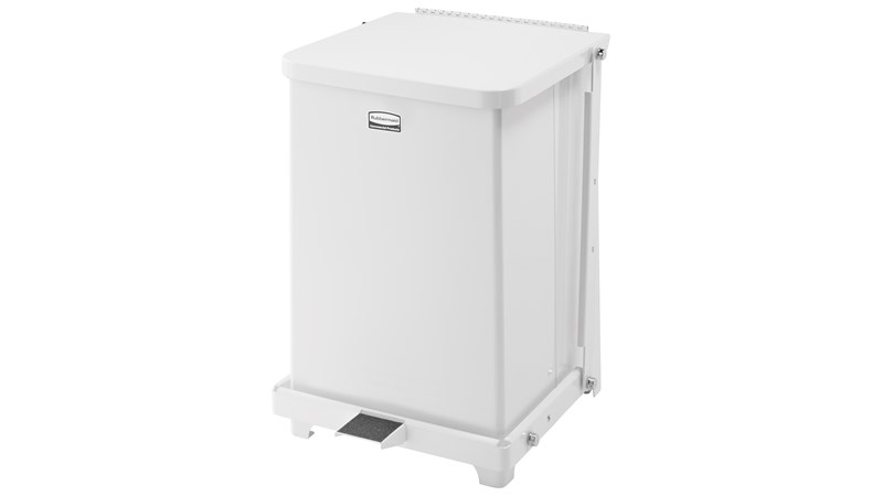 Engineered to close without a sound, the Silent Defenders® 7 Gallon FGQST7E Square Indoor Step-On Container is perfect for hospitals, doctor's offices and other healthcare facilities.