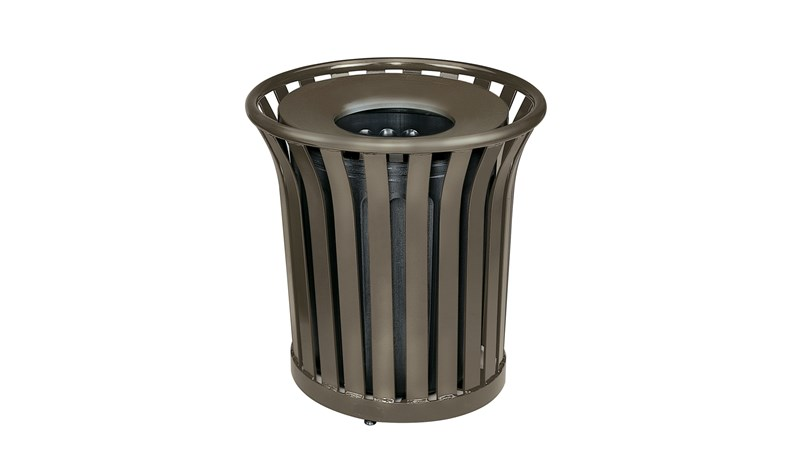 The Americana Series™ decorative outdoor waste containers maintain an upscale appearance while providing exceptional waste control. Rugged steel construction with multiple layers of powder coating ensure years of trouble-free outdoor use.