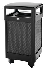 Dimension Hinged Top 29 Gal Black Gloss With Anthracite Metallic Perforated Panels