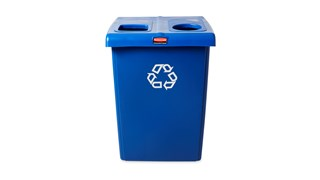 The Two-Stream Glutton® Recycling Station is a high-capacity, all-in-one centralized solution for efficient waste separation.
