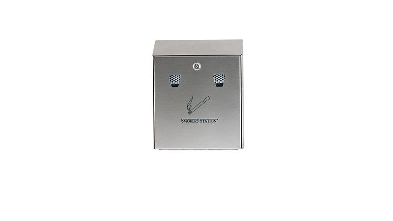 Simply snuff out cigarettes on the extinguishing screen and drop into the receptacle with the Smoker's Station® Wall Mount Urn.