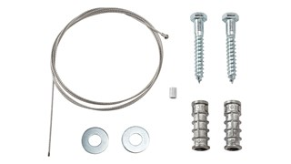 Security Kit for GroundsKeeper® Tuscan Receptacle ensures that container remains secure.
