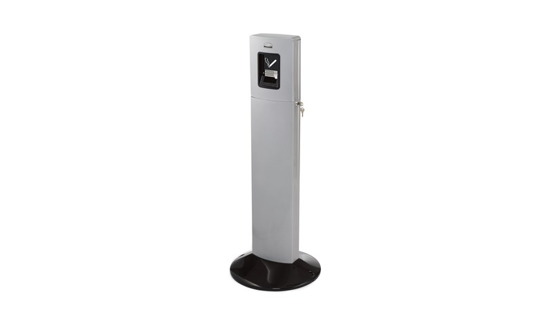 The Metropolitan Smokers' Station is a stylish all-metal, high-capacity smokers' station.
