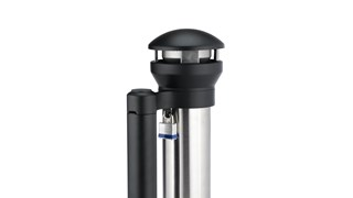 Infinity™ Base-Mount Smoking Receptacle offers sophisticated styling and all-metal construction for attractive and efficient smoking litter management.