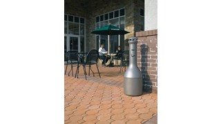 Infinity™ Traditional Smoking Receptacle offers sophisticated styling and all-metal construction for attractive and efficient smoking litter management.
