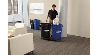 Expert-designed waste stream labels feature three visual cues, the recycling symbol, a stream icon and verbiage proven to increase recycling effectiveness. Kit includes labels designed for wastebaskets.