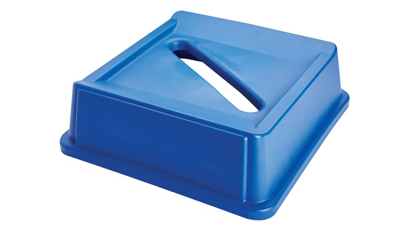 Paper Recycling Tops for Untouchable® containers help facilitate recycling sortation and waste disposal.