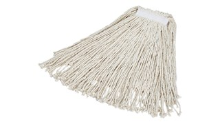 The Rubbermaid Commercial Value Pro Cut-End Mop Head is an economical cut-end mop for wet mopping and general cleaning.