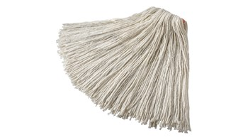 Economical, 4-ply cut-end mop for floor finish applications. Excellent absorbency and release characteristics. For economical floor finish applications. Recycled content: up to 75%. Nonlaunderable, bucket wash/wring only.
