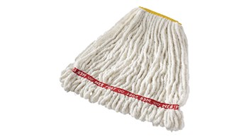 The Web Foot® Blend Shrinkless Mop is made from a balanced 4-ply blend of cotton and synthetic yarn for high absorbency that is ideal for general purpose mopping.