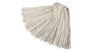 The Rubbermaid Commercial Cut End Mop features a bolt-on head for general purpose mopping.