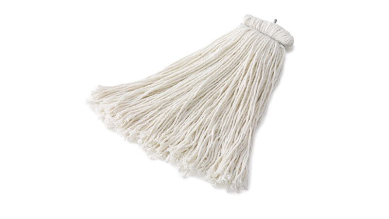The Rubbermaid Commercial Premium Bolt-On Cut End Mop is ideal for general purpose mopping.