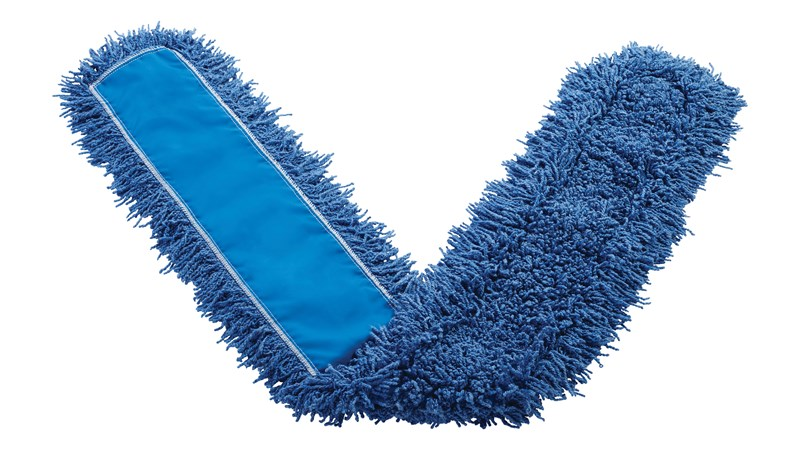 """Twisted-Loop Synthetic Dust Mop 60"""" FGJ35800 is a premium prelaundered dust mop that provides maximum durability and optimal cleaning performance."""