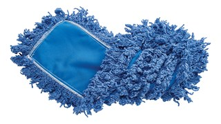 """Twisted-Loop Synthetic Dust Mop 18"""" FGJ35200 is a premium prelaundered dust mop that provides maximum durability and optimal cleaning performance."""