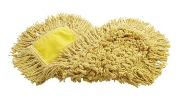 """Trapper® Dust Mop 18"""" FGJ15200 is a looped-end, balanced-blend dust mop for general-purpose dust mopping. Pretreated, preshrunk, and fully launderable for long product life. Slip-on backing for easy setup. All-sewn construction. Recycled content: up to 65% post-industrial cotton and 35% PET plastic."""