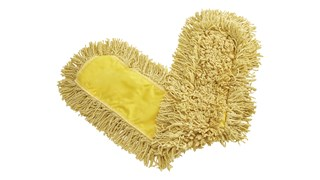 """Trapper® Dust Mop 36"""" FGJ15500 is a looped-end, balanced-blend dust mop for general-purpose dust mopping. Pretreated, preshrunk, and fully launderable for long product life. Slip-on backing for easy setup. All-sewn construction. Recycled content: up to 65% post-industrial cotton and 35% PET plastic."""