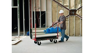 "The Rubbermaid Commercial Stanchion Platform Truck 24""X48"" with 8""POLYOLEFIN casters, 2500 lb. capacity"