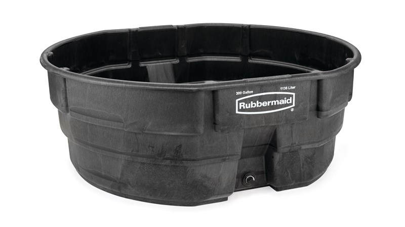 The Rubbermaid Commercial Stock Tank is constructed of sturdy, weather-resistant structural foam.