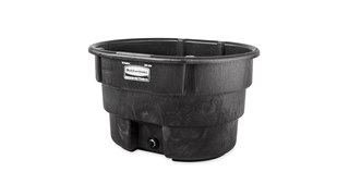The 70 Gallon Stock Tank has a sleek appearance and smooth black color that features an over-sized drain plug for easy draining and cleaning. Constructed from molded polyethylene for superior performance and long-lasting durability in all types of weather. Traditionally used for providing drinking water to farm animals; other alternative uses include a pond for ducks or fish, bathtub for pets/animals, mini pool/hot tub, a reservoir for water fountains, hydroponics, potting plants and more.