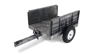 The Rubbermaid Commercial Tractor Cart 8 CF unassembled, 750 lb. capacity