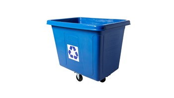Cube Truck, 16 Cubic Foot, Blue Recycling