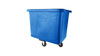 The Rubbermaid Commercial 12 cu ft Cube Truck is part of a full line of Cube Trucks assisting in waste collection, material transport, and laundry handling.