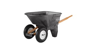 The Rubbermaid Commercial Wheelbarrow 6.5 CF 2 wheel, 200 lb. capacity