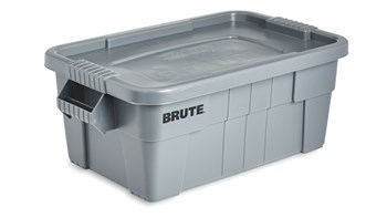 BRUTE® 14 Gal Tote with Lid, Gray