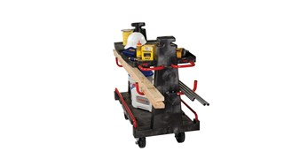 """The Rubbermaid Commercial Convertible A-Frame 24""""X44"""" with 8""""POLYOLEFIN casters, 2000 lb. capacity. Ideal for moving large, heavy, oversized loads in a variety of environments from retail to construction."""
