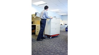 The Rubbermaid Commercial Heavy-Duty Padded Dolly features a professional-grade polyethylene plastic that is durable for just about any job