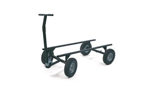 "The Rubbermaid Commercial 5th Wheel Wagon Truck 70""X40"" with 16"""" PNEUMATIC casters, 2000 lb. capacity"