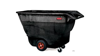 The Rubbermaid Commercial Tilt Truck, Structural Foam, offers industrial strength construction to transport heavy loads up to 1,250 lbs.