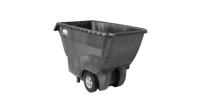 The Rubbermaid Commercial Tilt Truck, Structural Foam, offers industrial strength construction to transport heavy loads up to 1,000 lbs.