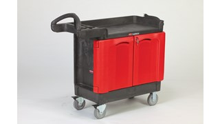 The TradeMaster Cart with 2 Door Cabinet is a complete tool storage and mobile workbench system, with shelving and cabinet configurations to meet any storage needs.