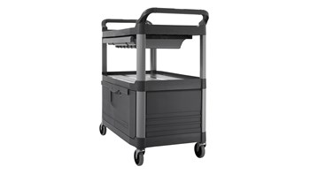 Xtra™ Instrument Cart with Lockable Doors and Sliding Drawers is a durable storage and transportation cart for front and back-of-house applications.