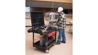 The Rubbermaid Commercial TradeMaster Professional Contractor's Cart moves productivity right to the work site.