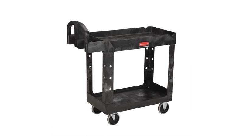 The Rubbermaid Commercial Heavy-Duty Utility Cart is a versatile, durable cart that can support up to 500 lbs.