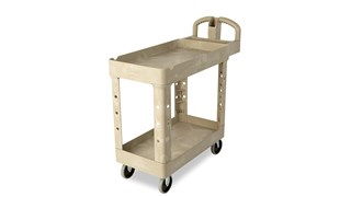 The Rubbermaid Commercial Small Utility Cart is a versatile, durable cart that can transport up to 500 lbs.