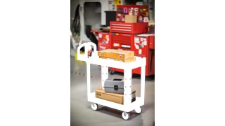 The Rubbermaid Commercial Utility Cart with 2 Lipped shelves, Small, is a versatile, durable cart that can transport up to 500 lbs.