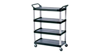 The Rubbermaid Commercial Xtra Utility Cart is a versatile, durable cart able to perform a wide variety of tasks.