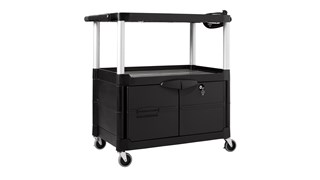 The Rubbermaid Commercial Audio-Visual Cart is designed to make any presentation run smoothly.