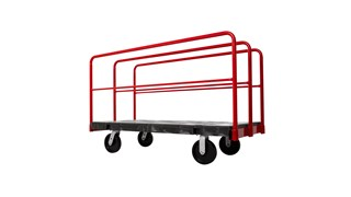 """The Rubbermaid Commercial Sheet/Panel Truck 30""""X60"""" with 8""""POLYOLEFIN casters, 2000 lb. capacity"""