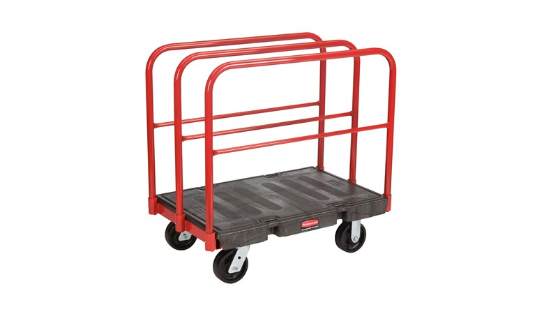 "The Rubbermaid Commercial Sheet/Panel Truck 24""X36"" with 6""POLYOLEFIN casters, 2000 lb. capacity"